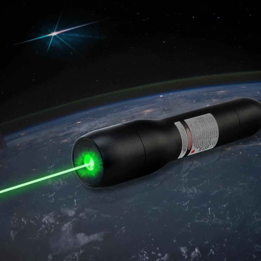 QK-DS6 1000mw 510nm Waterproof o ponteiro do laser do verde 5 medidores subaquáticos