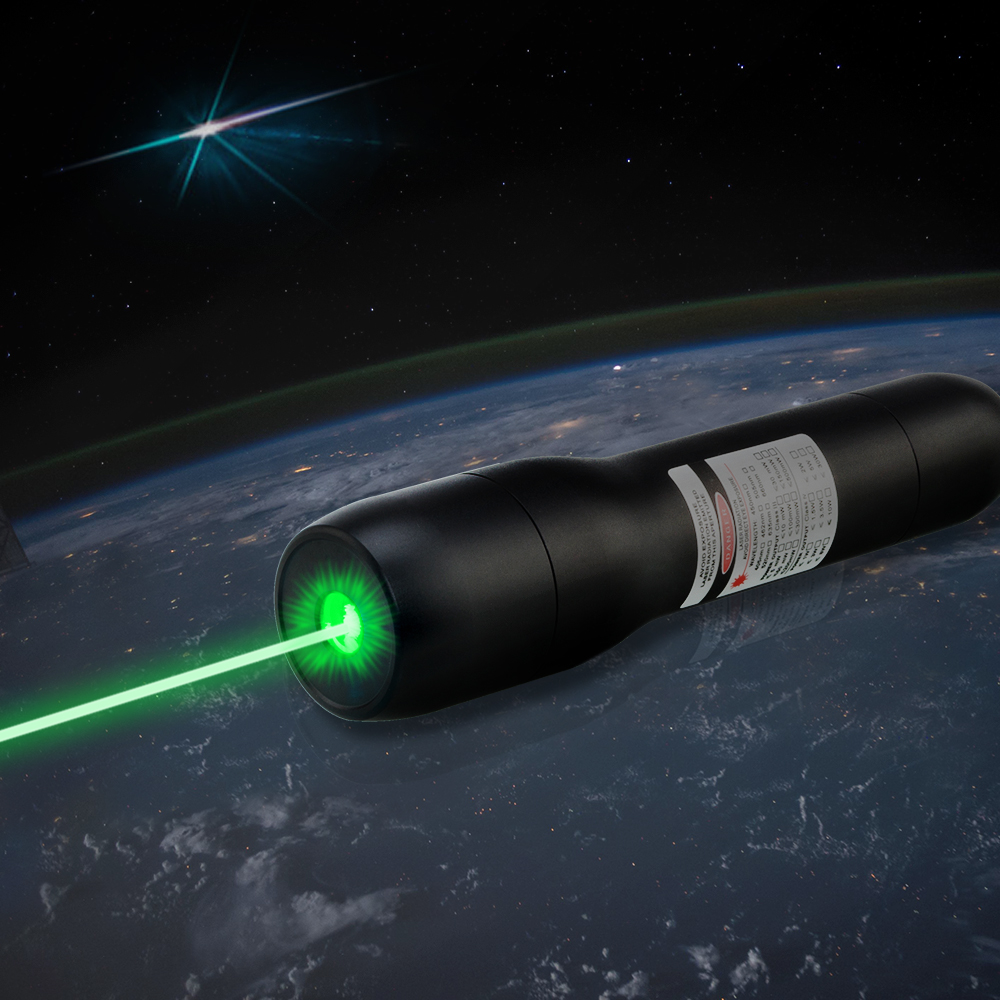 QK-DS6 5000mw 505nm Puntero láser verde a prueba de agua 5 metros bajo el agua