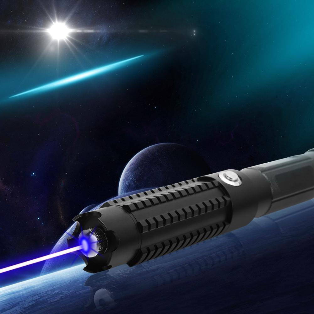 50000mw 450nm 5 en 1 Kit de puntero láser azul de alta potencia ardiente Negro