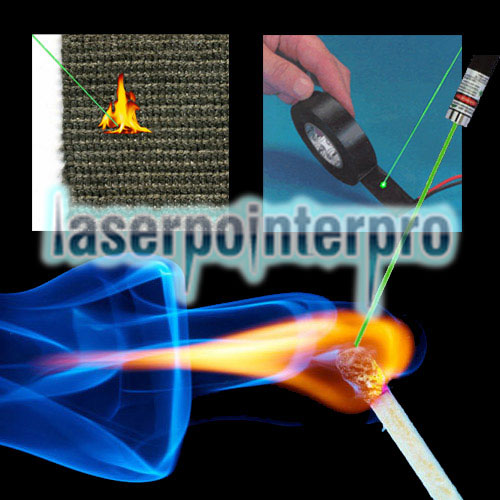 2000mW Burning 450nm 5-in-1 Blue Beam Light Laser Pointer Pen Kit Black