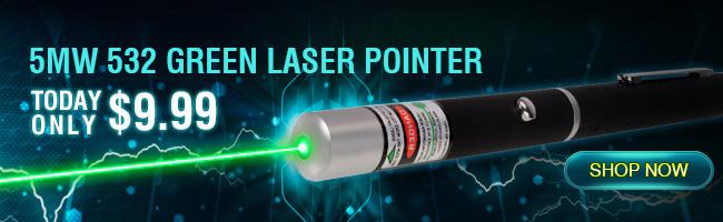 Puntatore laser da 5 mw