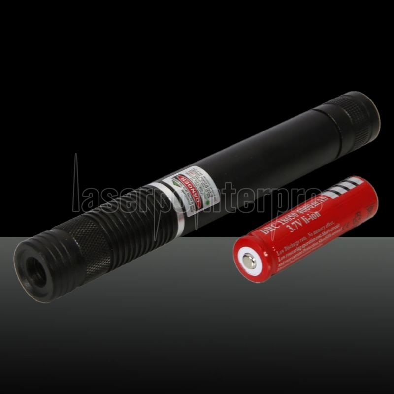 2pcs 500mw Beam Green Laser Pointer 1 X 4000mah Noir