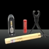 100mW 532nm Green Beam Light Focusable Laser Pointer Pen Kit Golden