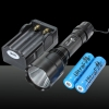 LT-C8 XM-L 1*T6 2000LM White Light 5-Mode Flashlight Black