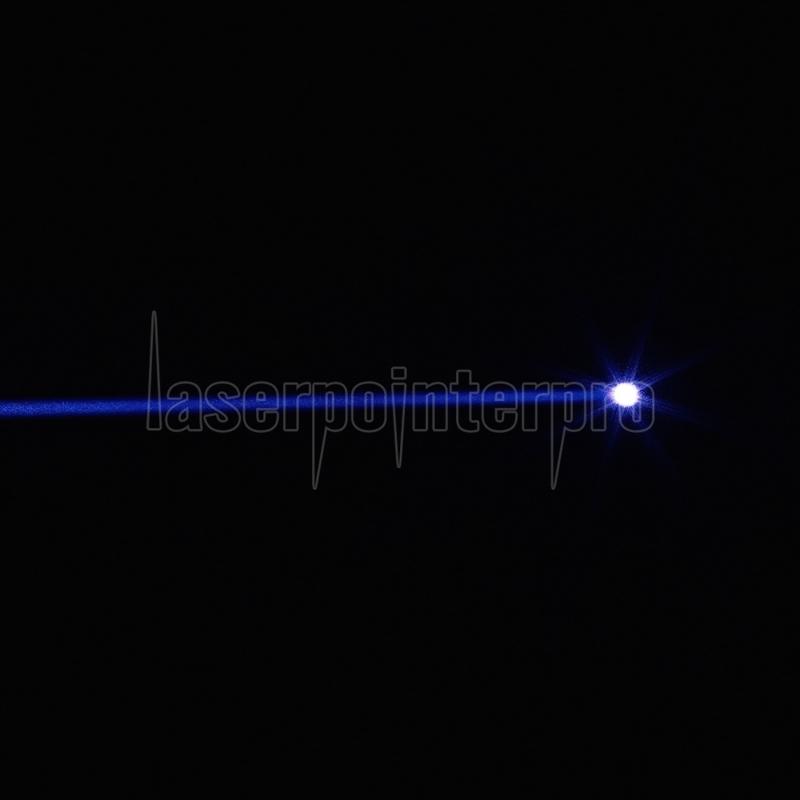 5000mW 450nm 2*16340 Batteries Single-point Blue Beam Light Laser Pointer  Pen Silver