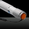 2000mW 450nm azul feixe de luz Single-ponto Prata Estilo Laser Pointer Pen