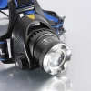 XM-L T6 1800lm Middle Switch White Light Stretchable Headlamp Suit with US AC Adapter & 18650 Batteries Blue