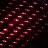 500mW 650nm Steel Casing Kaleidoscope Starry Sky Style Red Laser Pointer Silver