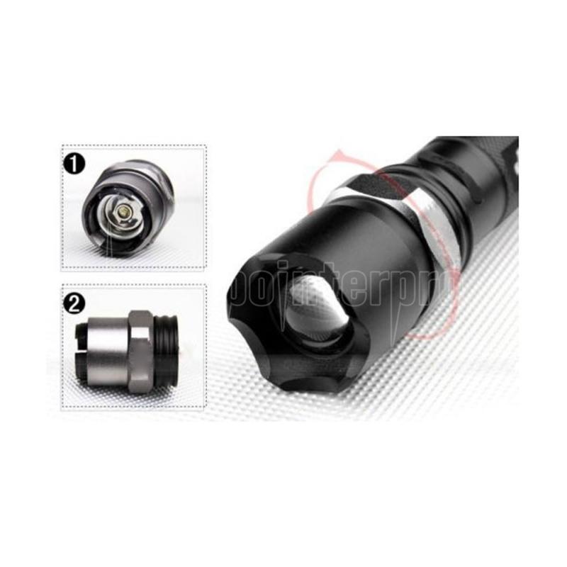 Mini-LED-Taschenlampe wiederaufladbar Ultra Bright 3 Modi Dimmen Taschenlampe