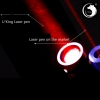U`King ZQ-012A 638nm 300mW Red Laser Pointer Kit Waterproof Linear Spot Style Black