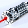 UKing ZQ-15H 300mW 650nm Red Beam Single Point Zoomable Laser Pointer Pen Silver