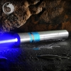 UKing ZQ-j11 4000 mW 473nm Bleu Faisceau Point Unique Zoomable Laser Pointeur Stylo Kit Chrome Placage Shell Argent