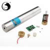 UKing ZQ-j10L 10000mW 520nm Pure Green Beam Single Point Zoomable Laser Pointer Pen Kit Chrome Plating Shell Silver