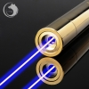 UKing ZQ-15B 5000mW 445nm Blue Beam 5-in-1 Zoomable High Power Laser Pointer Pen Kit Golden