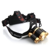 New Style 3 x XM-L T6 3800LM Stretchable Focusing 90-Degree Adjustable Waterproof LED Headlamp for Outdoor Activities Black & Lu