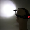 New Style 3 x XM-L T6 Focusing 90-Degree Adjustable Waterproof LED Headlamp Black
