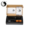 UKing ZQ-012L 5000 mW 532nm Feixe Verde 4-Mode Zoomable Caneta Laser Pointer Kit Preto