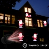 Kshioe LED Automatic Conversion Santa Claus LED Christmas Decoration Outdoor Landscape Lawn Lamp US Plug Red & Green Light