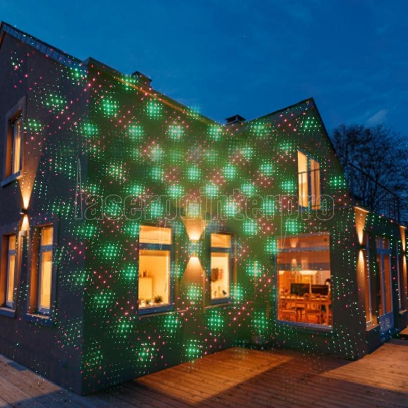 ... Kshioe Rotate Laser Light LED Christmas Decoration Outdoor Landscape Lawn Lamp US Plug Red & Green ...