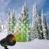 Kshioe Rotate Laser Light LED Christmas Decoration Outdoor Landscape Lawn Lamp US Plug Red & Green Light