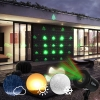 Kshioe Rotate Red and Four in One Green Laser Light LED Christmas Decoration Outdoor Landscape Lawn Lamp US Plug Red & Green Lig