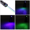 UKing ZQ-J33 200mW 532nm & 450nm doppeltes Licht 5 in 1 USB Laser Pointer