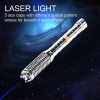 UKing ZQ-J37-T1 10000mw 450nm 5 in 1 two model USB Blue Laser Pointer