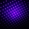 10mW Middle Open Starry Pattern Purple Light Naked Laser Pointer Pen Blue