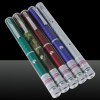 50mW Middle Open Starry Pattern Purple Light Naked Laser Pointer Pen Silver