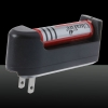 300mW 620 Click Style Open-back Red Laser Pointer with Clip / Battery Black
