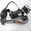 LW-5000 3*T6 10W 3-Mode 5000LM White Light Headlamp Black