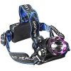 LT 2000Lm XM-L T6 LED Aluminum 1-bulb 3 Modes Waterproof Single Headlamp (2*18650) Purple & Black