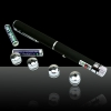 5 em 1 100mW 532nm Mid-aberto Kaleidoscopic Green Laser Pointer Pen