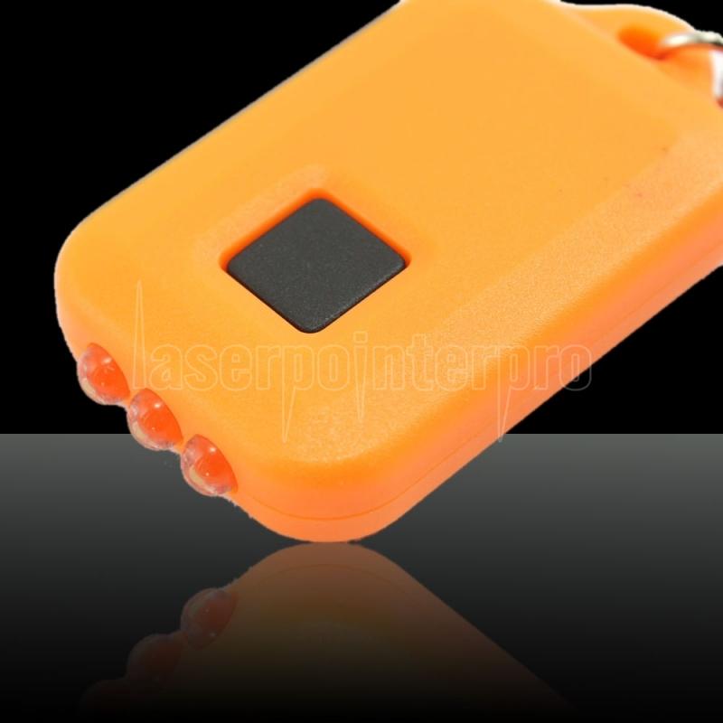 Solar Power LED Flashlight Keychain ORANGE