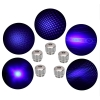 10000mw 450nm Gatling brennende High Power Blue Laser Pointer Kits Schwarz