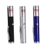 200mW 650nm Red Beam Light Single-point Rechargeable Laser Pointer Pen Silver