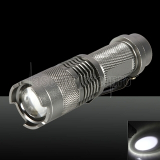 SK68//Q5 250LM 1 Mode Adjustable Focal High Light Flashlight Silver