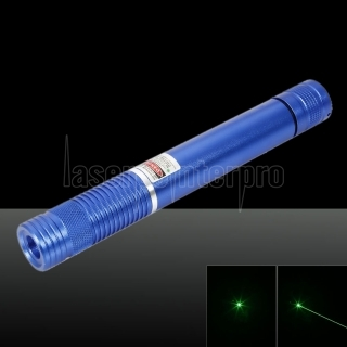 500MW Beam Green Laser Pointer (1 x 4000mAh) Blue
