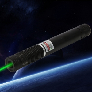 400MW Beam Green Laser Pointer (1 x 4000mAh) Black