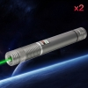 2Pcs 500MW Beam Green Laser Pointer Silber