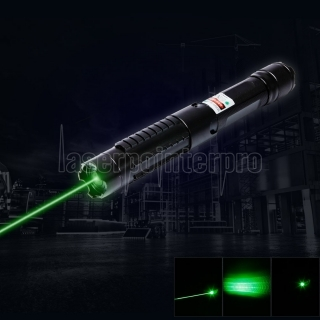 5-in-1 5000mW 532nm Beam Light Green Laser Pointer Pen Kit Black