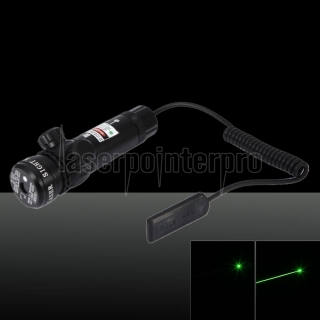 250mW Green Beam Light Flat Head Laser Gun Sighter Black