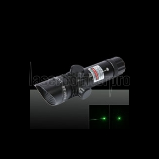 Black Sighter Laser da 50mW con raggio verde e luce inclinata