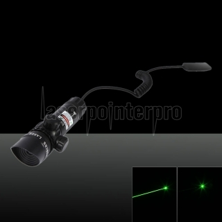 250mW 522-542nm Green Beam Light Slanted Head Láser Gun Sighter Black