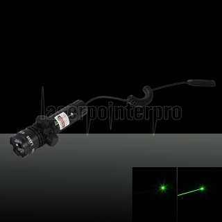 230mW 532nm Green Beam Light Lotus Head Laser Gun Sighter Set Black