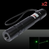 2Pcs 400mW 532nm Green Beam Light Laser Pointer Pen Black 853