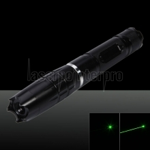 400mW Burning Green Beam Light Crystal Separate Attacking Head Caneta Laser Pointer Preto