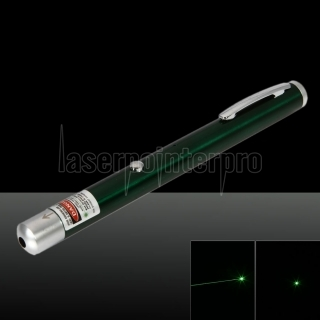 5mW 532nm Green Beam Light puntero láser recargable de un solo punto Pen Green
