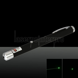5mW 532nm Green Beam Light Pen puntero láser recargable de un solo punto negro
