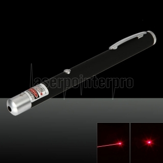 5mW 650nm Red Beam Light Pen puntero láser recargable de un solo punto negro